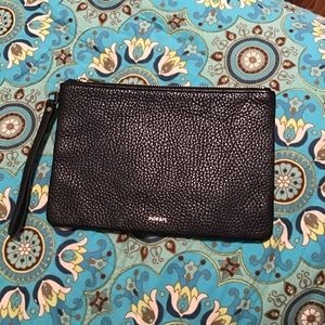 Fossil Black Leather Clutch